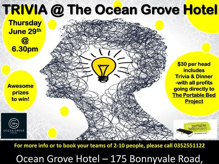 Trivia @ The Ocean Grove Hotel